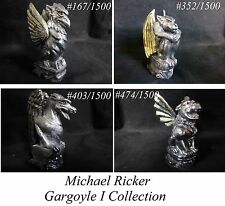Michael Ricker Pewter Gargolyes Limited Edition Dragon Griffin Demon Set of 4
