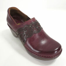 Ariat Clogs 9 Tambour Burgundy Laser Leather Studs Womens Heels Casual ATS Shoes
