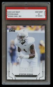 STEFON DIGGS 2015 LEAF DRAFT 1ST GRADED 10 ROOKIE CARD RC BUFFALO BILLS/MARYLAND