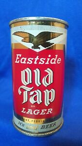 EASTSIDE OLD TAP BRAND LAGER ~ 12 FLUID OUNCES FLAT TOP ~ PEORIA HGTS ~ STUNNING