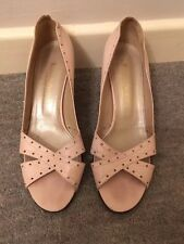 RUSSELL & BROMLEY PINK LEATHER LADIES SHOES SANDALS PEEP TOE  SIZE UK 6 EU 39