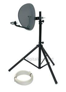 Satellite TV Tripod + 43cm Sky Dish for Caravan Camping Portable Reception  NEW