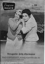 Drogisten Magazin 1957 + Werbebeilagen Drogerie Fritz Ehrmann Bad Cannstadt