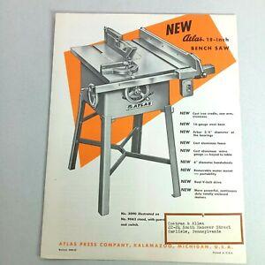 "Atlas 10"" Bench Saw #3090-59 Catalog Michigan USA #9062 Stand"