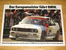 BMW M3 E30 POSTER 17 - EUROPAMEISTER BMW 1988 - DIN A1 / ORIGINAL VINTAGE MINT