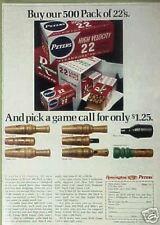 1970 Duck,Deer,Goose,Crow,Dove ,Quail,Ect.Game Call Oddball Sporting Goods Art Ad