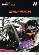 Denny Hamlin Autographed 8x10 Photo/Picture