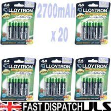 20 x Lloytron AA Rechargeable Batteries 2700 mAh Rechargable 5 x 4 Packs