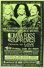 Diana Ross & The Supremes 2000 Denver Concert Tour Poster - 60's Soul, R&B Music