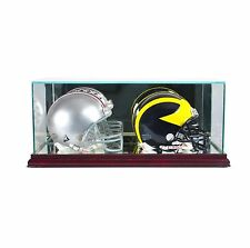 *NEW Glass Double Mini Helmet Display Case NFL NCAA