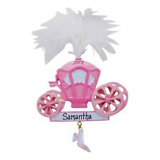 PERSONALIZED Princess Pink Carriage Christmas Ornament 2019 Holiday Gift