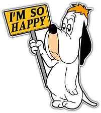"Droopy Dog Funny Happy Room Cartoon Car Bumper Window Vinyl Sticker Decal 4""X5"""