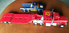 Lot 2x Matchbox Superkings 1978 Peterbilt fire patrol unit + 1974 pick-up truck