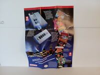 4-Player Co-Op NES Original Nintendo Fold-Out Insert Poster Promotional