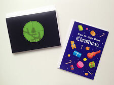 Lot of *5* VERY DARK CHRISTMAS GREETING CARDS by Despair Inc. — Not For Everyone