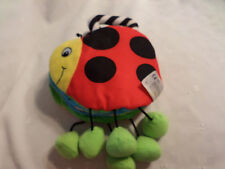 Infant Development Fly-Away Ladybug Rattle Book 11 Plush Soft Toy Stuffed Animal