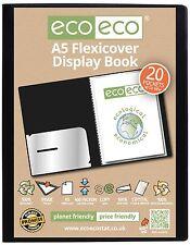 1 x A5 20 POCKET FLEXICOVER DISPLAY BOOK BLACK PRO FOLDER PORTFOLIO FILE BOOK