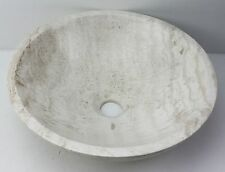 Small Stone 320mm Travertine MARBLE Round Bowl Counter Basin Vanity SINK Vessel