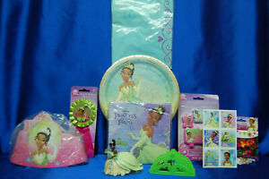 Princess & The Frog Party Set # 9 Invites Tiana Plates Candle Napkin Cake Topper