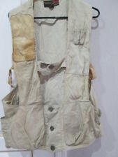 Vintage 1950s 10-X Gold Beige Skeet & Trap Shooters Vest Size 38 Leather trim