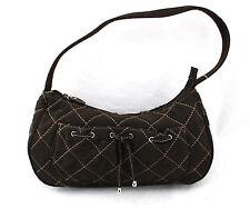 VERA BRADLEY Brown Espresso Quilted Ribbon Bow Shoulder Bag Purse