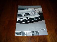 Nissan maxima QX Exclusive folleto 08/2000