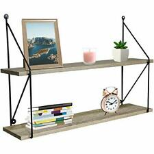Sorbus Floating Shelves, Rustic Hanging Wall Shelf Décor - 24 Inches - 2 Tier