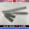 Door Sill Protector Scuff Plates Trim for KIA RIO X LINE 2017-19 Stainless Steel
