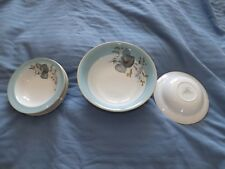 Broadhurst Bros Grindley Satin White blue flowers dishes bowls free uk postage
