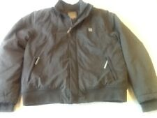 BENCH OUTDOOR/ COLD WEATHER PADDED JACKET-XL=44-46in-GREY-FLEECE LINED-ZIP-VGC