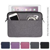 Tablet Case Sleeve Bag Cover For Apple iPad mini Air Pro Samsung Galaxy Tab 8 10
