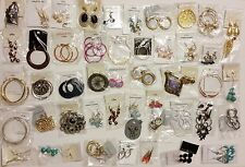 100 Pairs Wholesale Lot of Assorted Fashion Costume Trendy Earrings