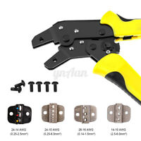 Terminal Crimper Cable Tube Plier Electrical Ratchet Tool Kit Set Crimping  I