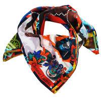 Foulard Christian Lacroix 100% seta Made in Italy 70x70 cm donna multicolore ...