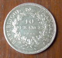 PIECE   REPUBLIQUE FRANCAISE   10 FRANCS EN ARGENT DE 1966