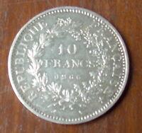 PIECE   REPUBLIQUE FRANCAISE   10 FRANCS EN ARGENT DE 1966