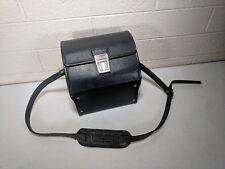 Vintage MARSAND Camera Case Black Leather & Grey interior