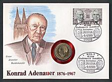 Numisbrief 2 DM 1987 Konrad Adenauer 1. Bundeskanzler Stempel 1989 Kiel NB-A5/04