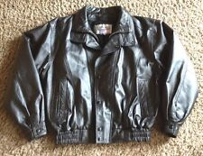 Genuine Leather Motorcycle Biker Jacket  Size Medium UNISEX  By American Leather