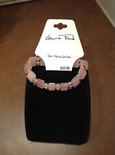 LAURA FORD ROSE QUARTZ BRACELET BEAUTIFUL SEMI PRECIOUS GEM STONES
