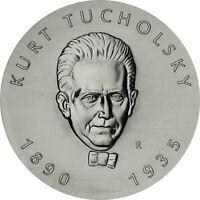 DDR 5 Mark Kurt Tucholsky 1990 Stempelglanz Gedenkmünze in Münzkapsel