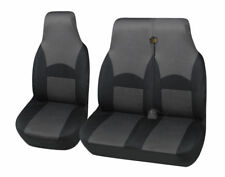RENAULT TRAFIC 2016 ONWARDS DELUXE GREY RACING VAN SEAT COVERS 2+1