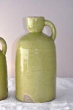 Deco Krug Vase L shabby style Grün craquele Keramik von BRYNXZ HOLLAND
