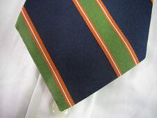 BROOKS BROTHERS Navy Blue Orange Green Repp Stripe Silk Tie ~ NWOT ~ New