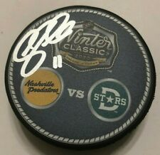 Andrew Cogliano Signed 2020 Nhl Winter Classic Puck W/ Case Dallas Stars Coa