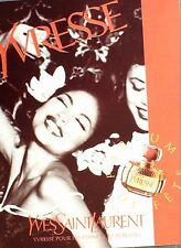 PUBLICITE-A 74-YVES SAINT LAURENT YVRESSE-PARFUMS-ANNEES 50/60