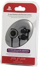 PSP Sony In-Ear Auricolari Con Telecomando PSP Sigillato 0711719724056
