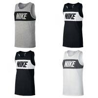 Nike Mens Vest Top Retro Logo Sports Work out Gym Training Sleeveless Tank