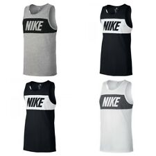 6ec55a1a1039 Nike Mens Vest Top Retro Logo Sports Work out Gym Training Sleeveless Tank