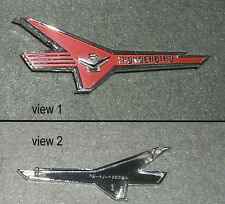 NOS RH Thunderbird V8 Fender Emblem 1956/56 Ford Fairlane/Victoria Engine Badge